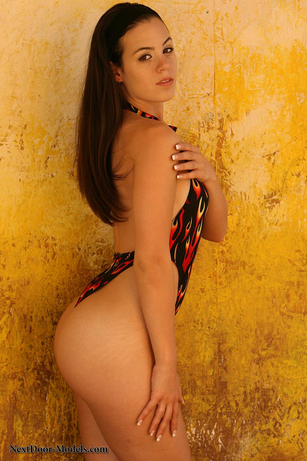 Abby brooks flame bikini