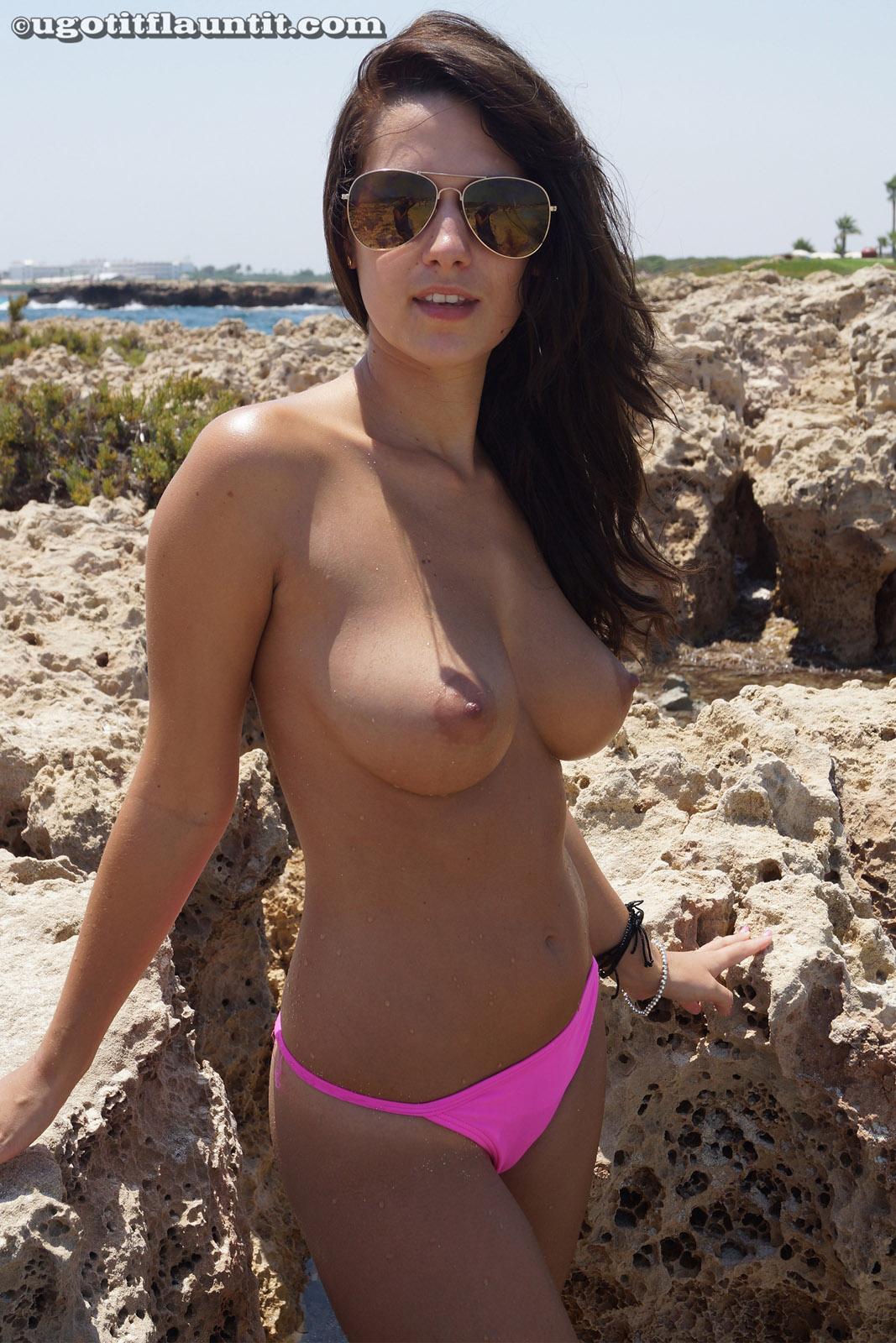 Amy Wonderful Beach Boobs-9970