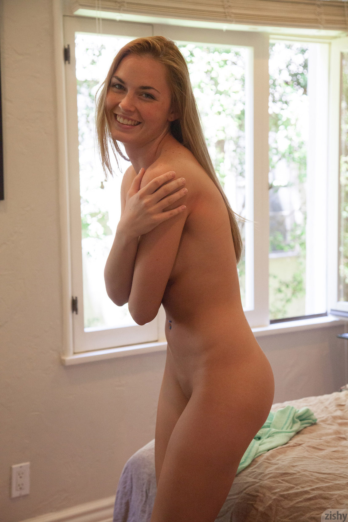shy and naked girls shower