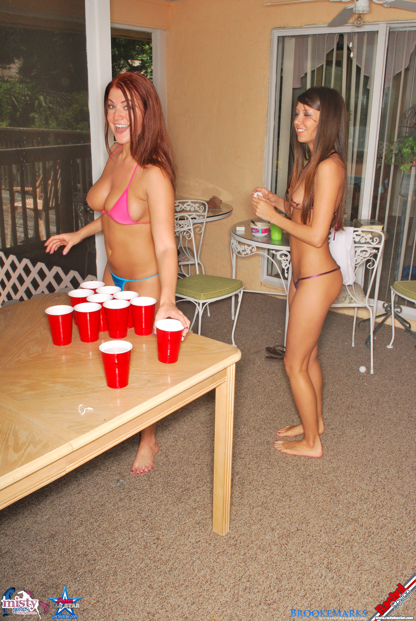 Strip beer pong naked video, oil overload orgy