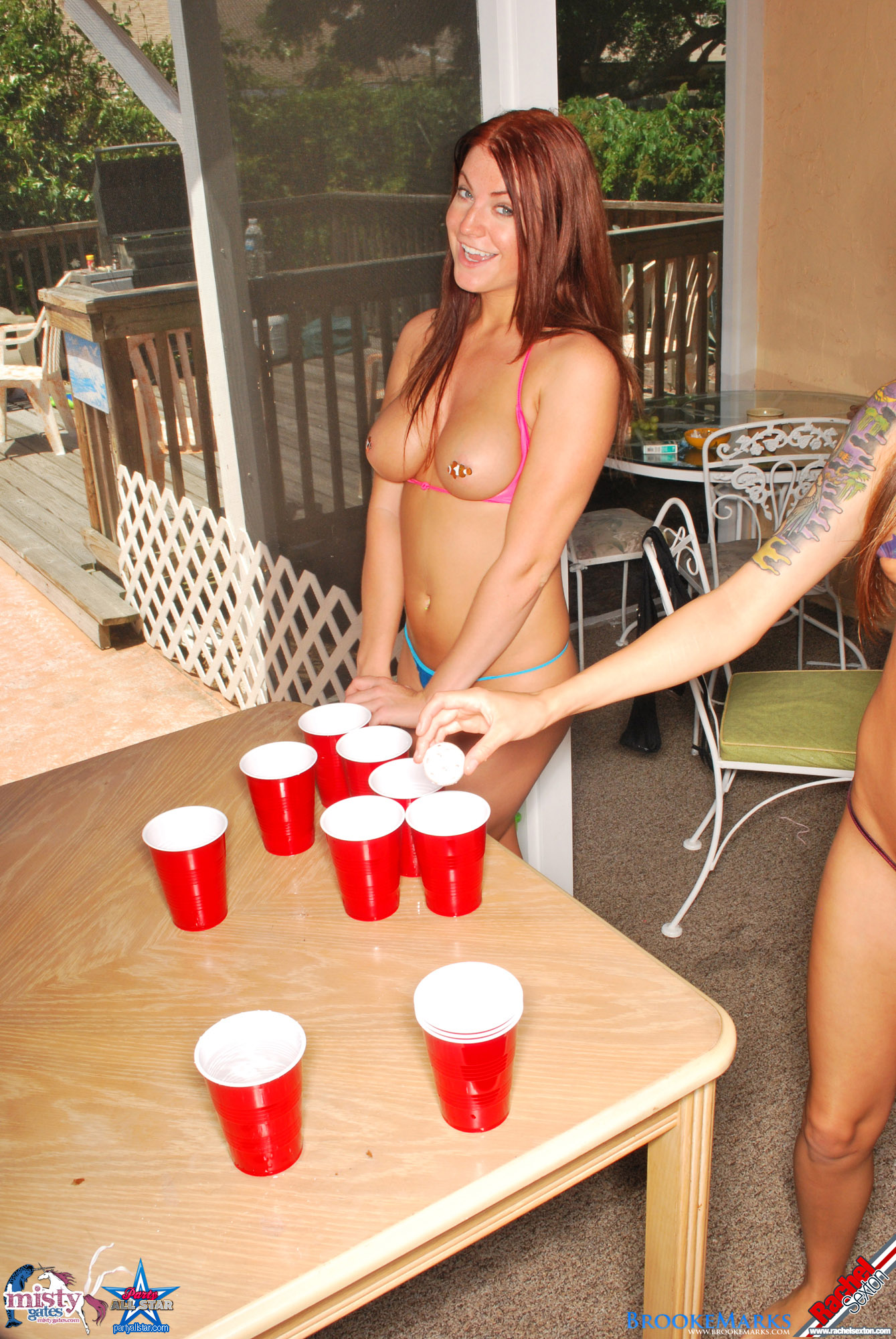 Naked beer pong pics, women getting fucked till it hurts