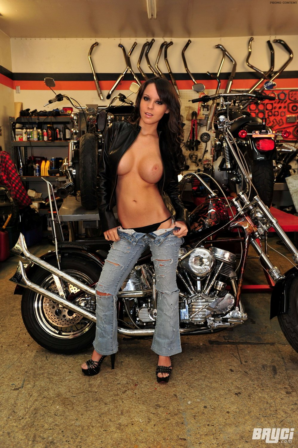 Asian biker chick nude
