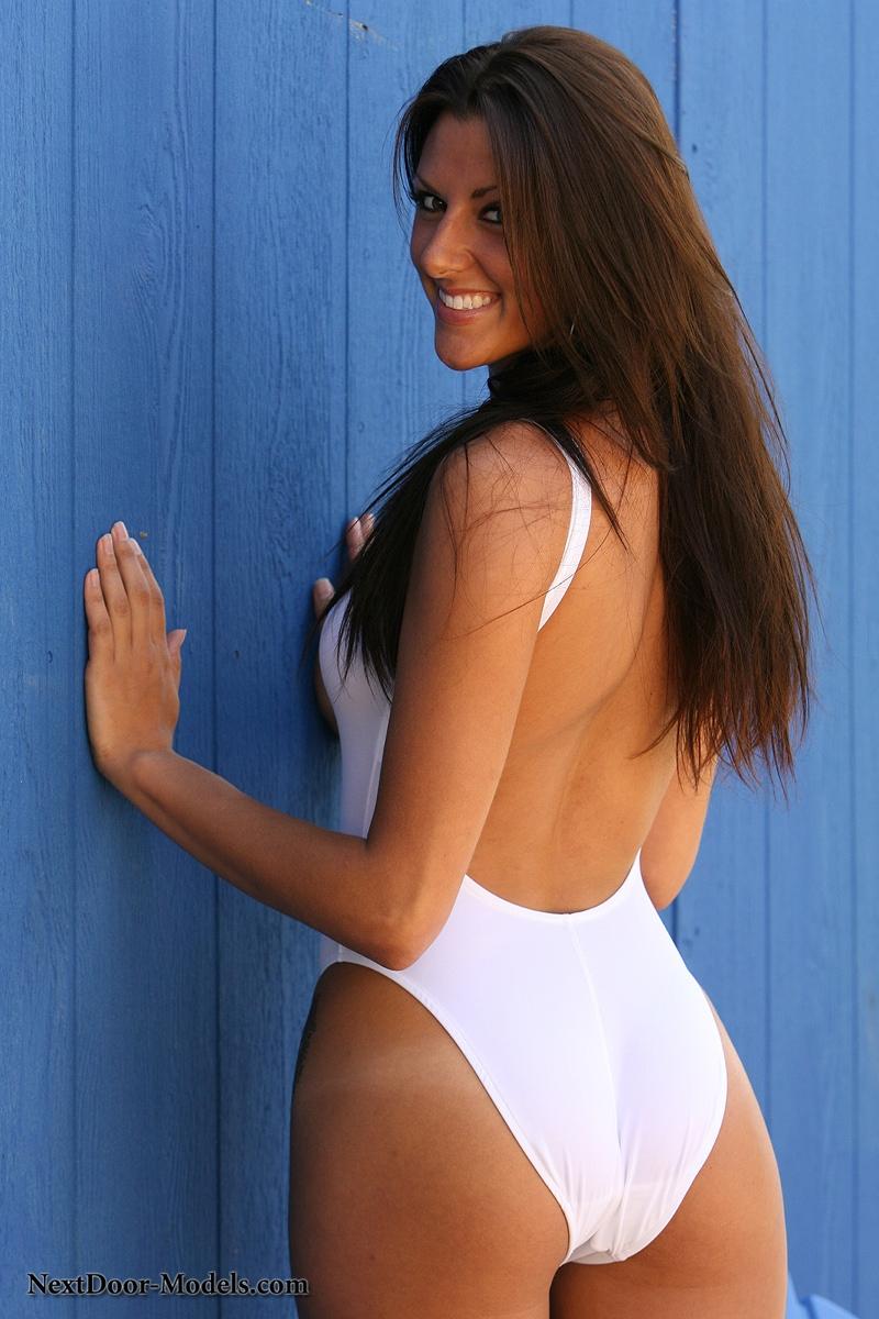 Rather valuable nextdoor models white bikini strip
