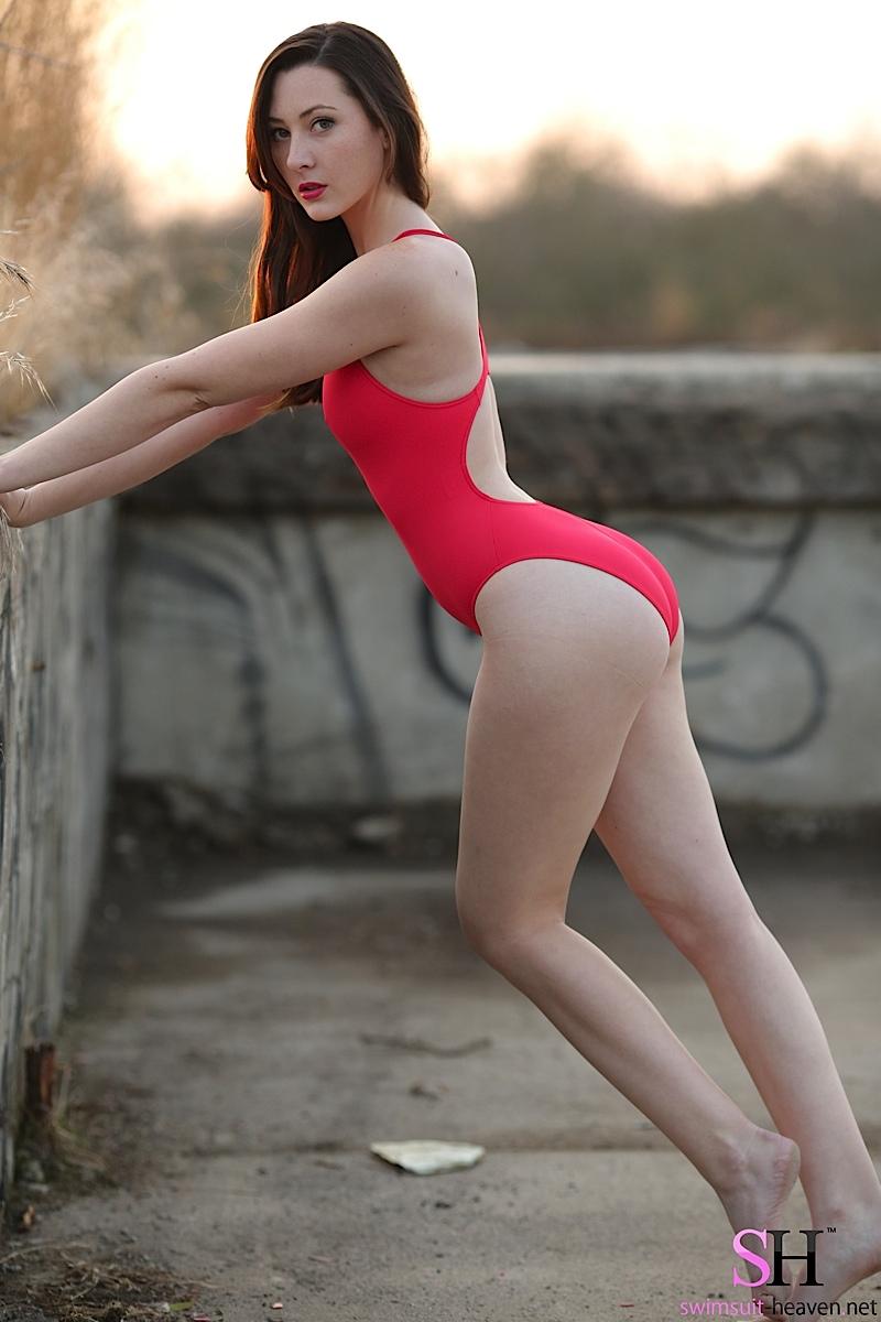 redhead swimsuit models