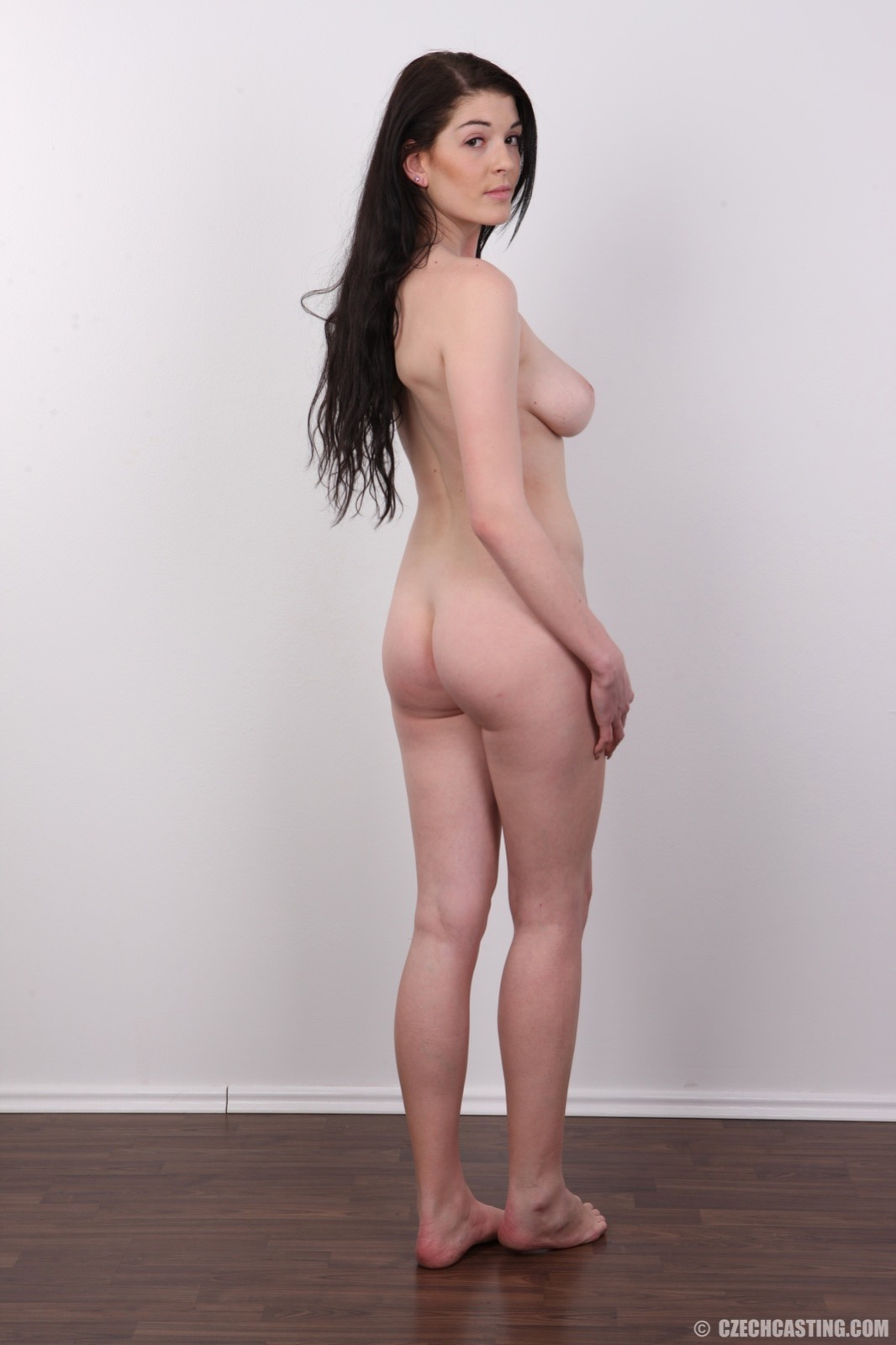 Czech beauty masturbating brunette