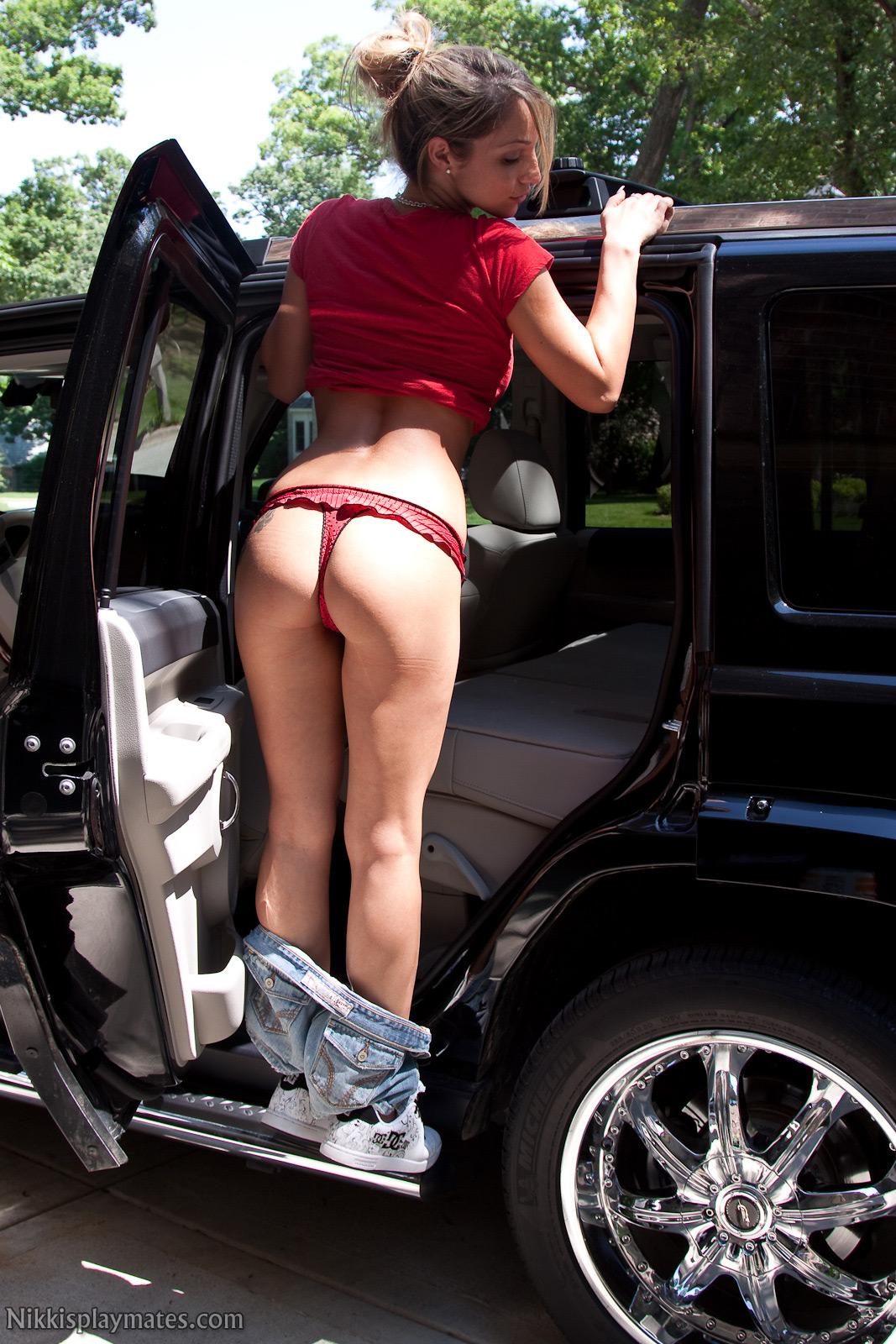 Nikki Sims Loves Her Car