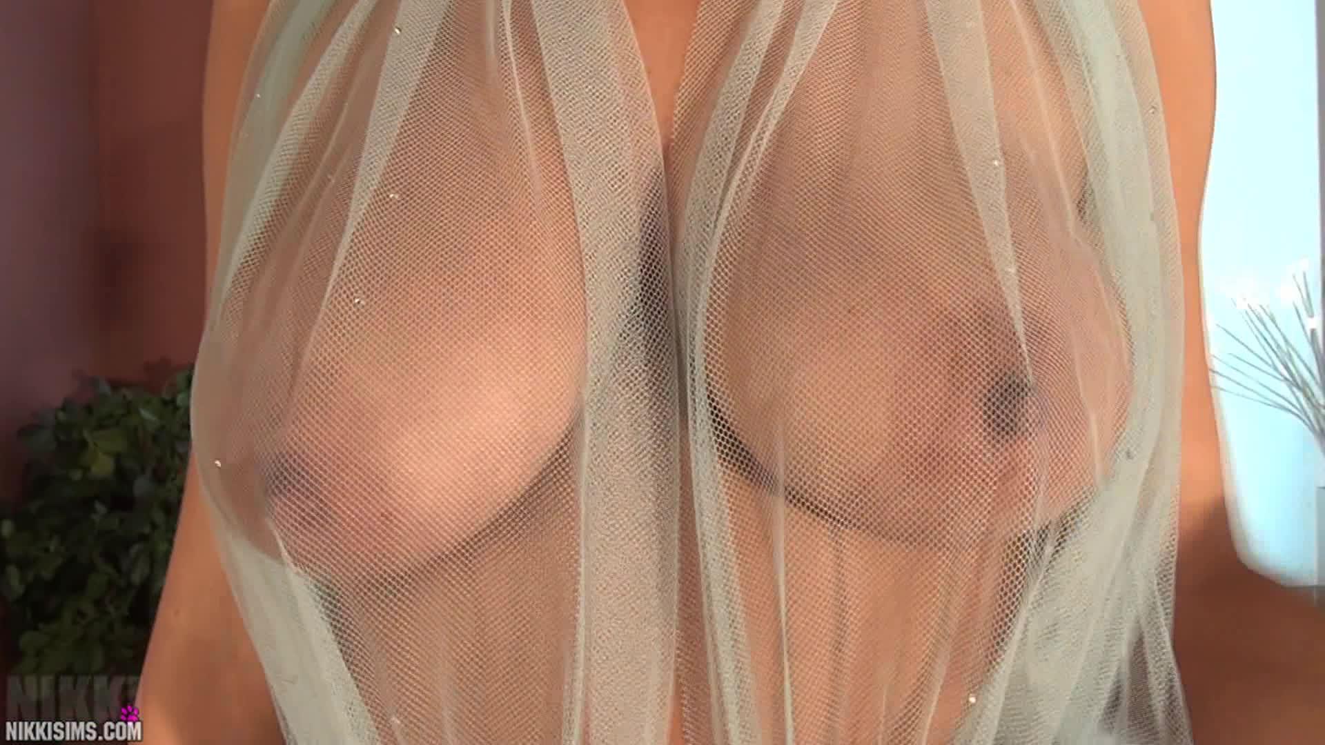 Yuri luv sheer top huge boobs