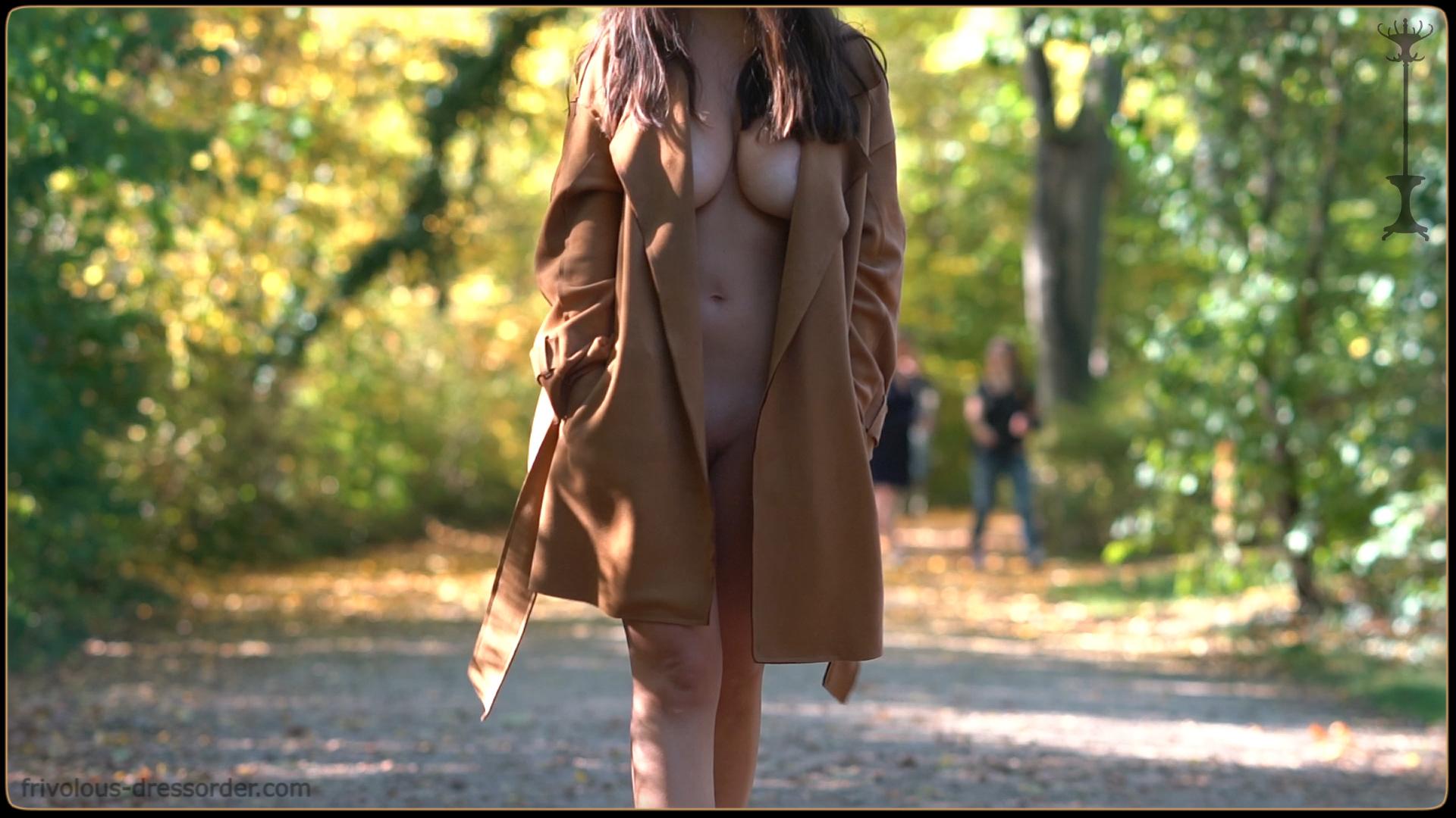 Sexy Coat Flashing