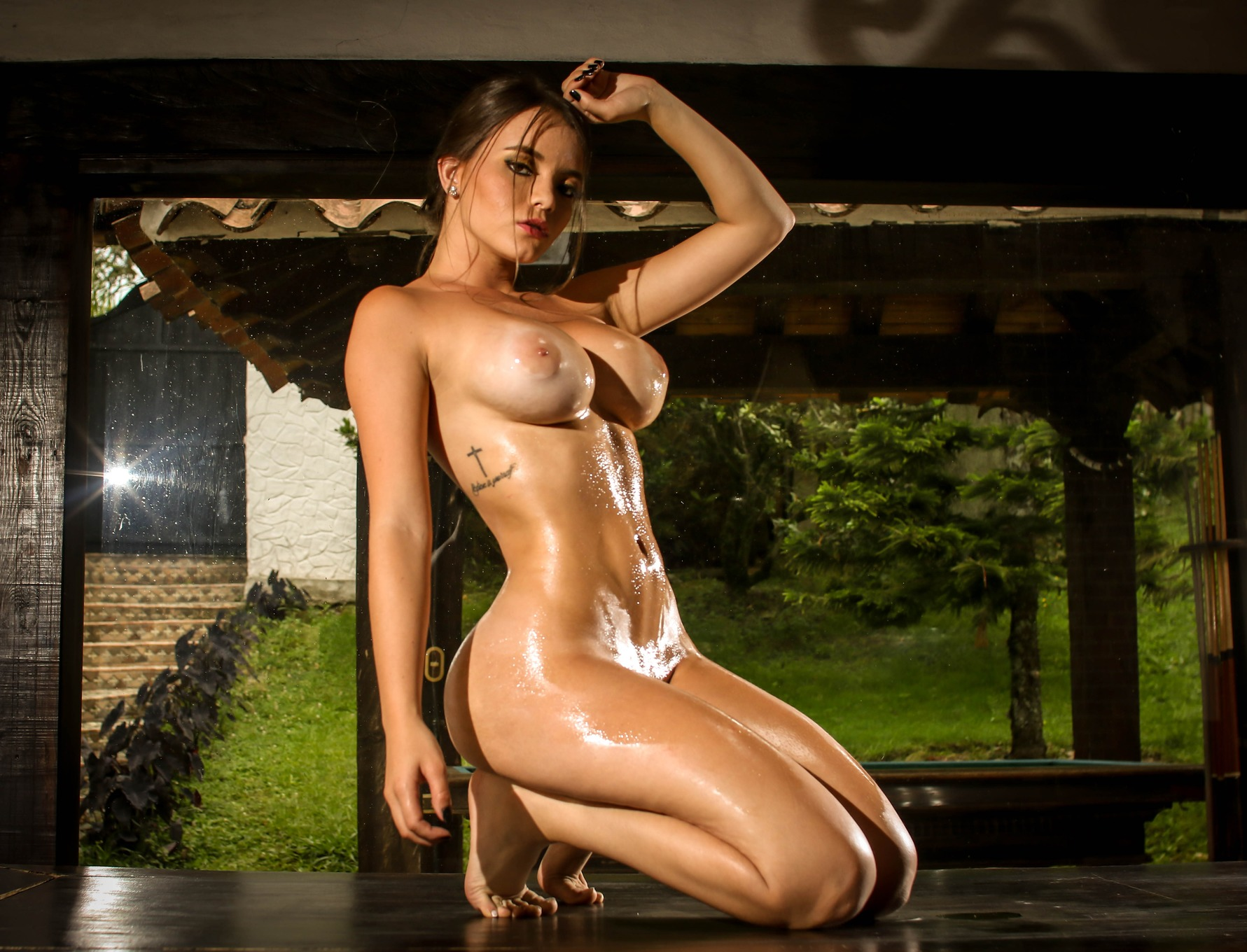 Hot naked sweaty female