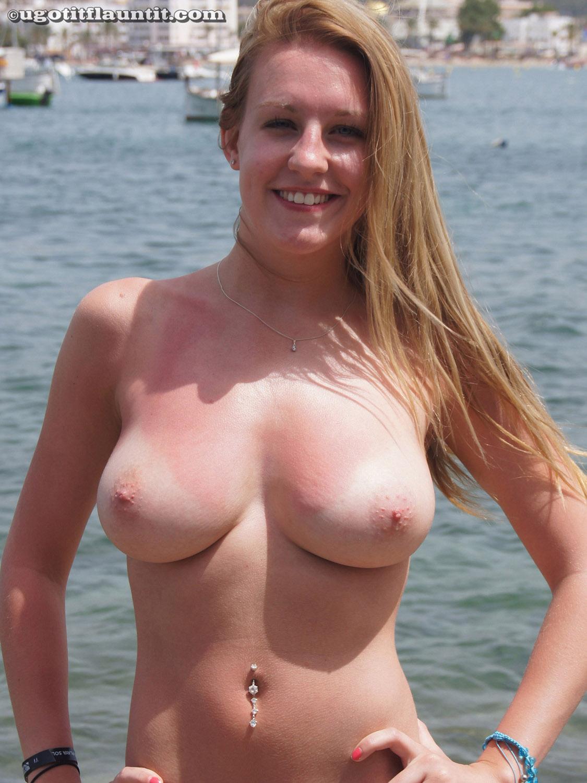 Sammi Tanlined Beach Boobs-5005