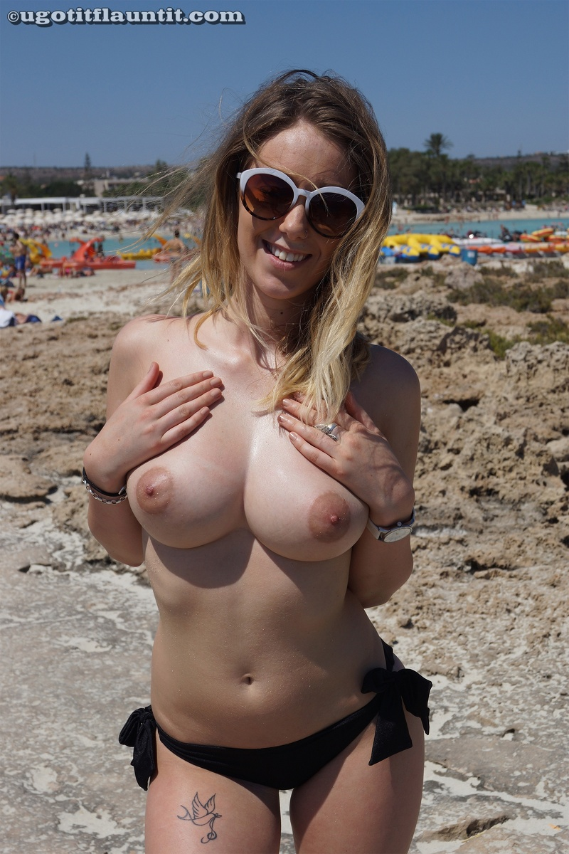 sophie perky beach tits flaunt it