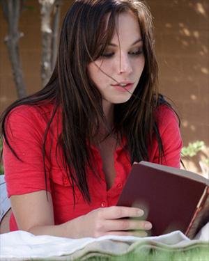Aidra Fox Loves Reading An Erotic Novel