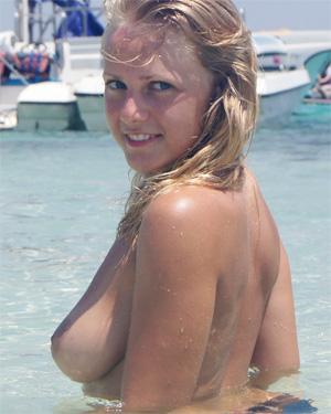 Alana Topless Beach Beauty