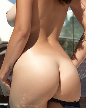 Ali Rose String Bikini for Playboy