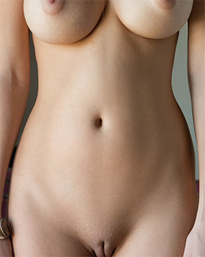Alisa Amore Stands Naked In Front Of You