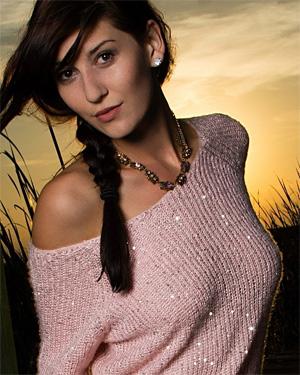 Amber Hahn Pink Sweater