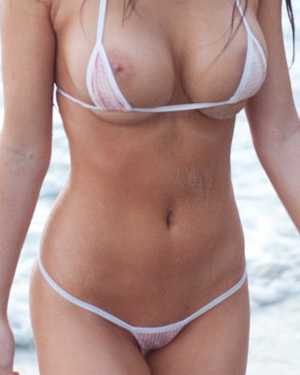 Amy Markham Bikini Nip Slip
