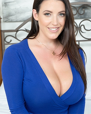 Angela White Pulls Out Her Big Tits In Bed