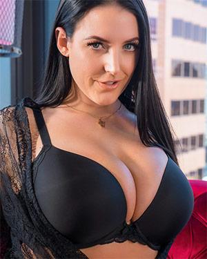 Angela White Posing for VR Bangers