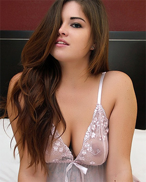 Ariel Lynn Big Boobs Sheer Babydoll