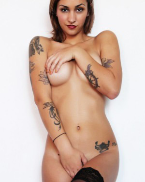 Ashlee Nova Erotic Lingerie Model