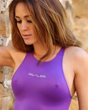 Ashley Shiny Purple One Piece
