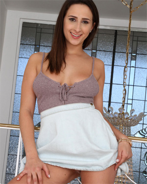 Ashley Adams No Panties Skirt