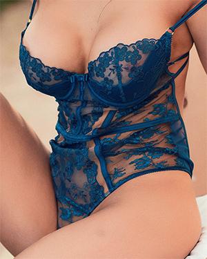 Ashley Blue Lingerie Beauty
