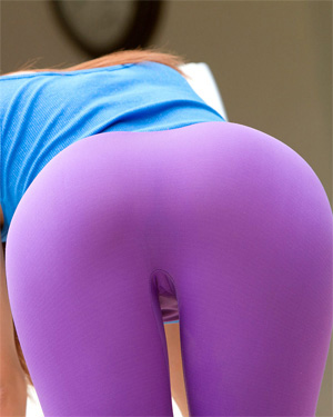 Ashley Doll Blue Tank Purple Tights