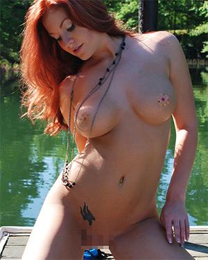 Avery Ray Naked On The Dock