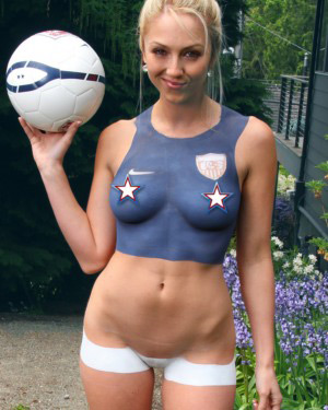 Brooke Marks World Cup Body Paint
