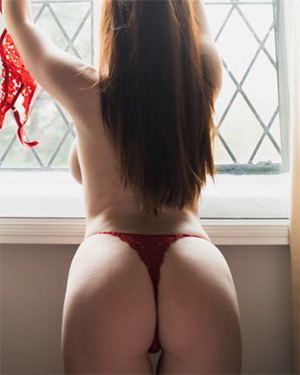 Brookie Little Red Lace Bedroom Nudes