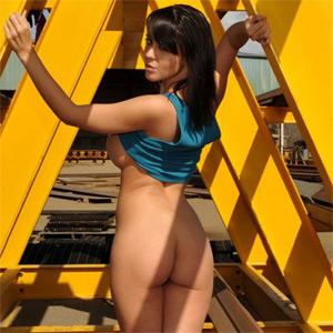 Bryci Naked Outside