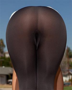Candace Mazlin Sheer Yoga Pants
