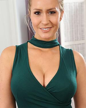 Candice Collyer Sexy Green Dress