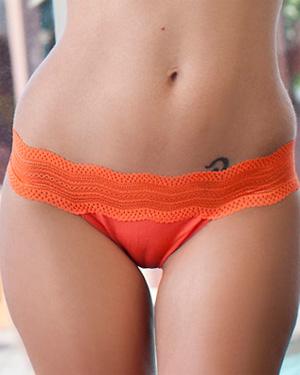 Charlie Boyde Orange Lingerie Breasts