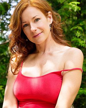 Chloe Morgane Redhead In Nature