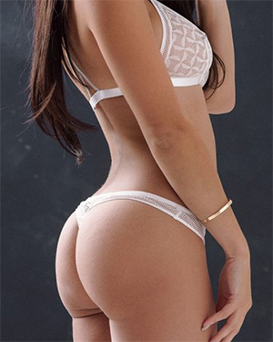 Courtnie Quinlan Lovely Ass In White Lingerie