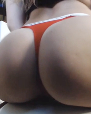 Dani Daniels Red Thong Video