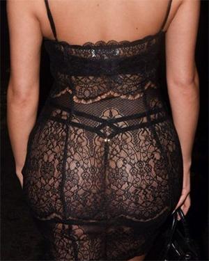 Demi Rose In A See Thru Dress