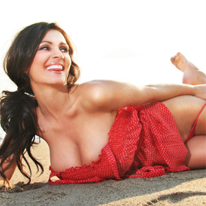 Denise Milani Sexy Red