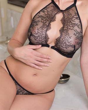 Dillion Harper Feels Sexy In Lace Lingerie