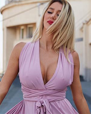 Eliza Miller Sexy Pink Dress
