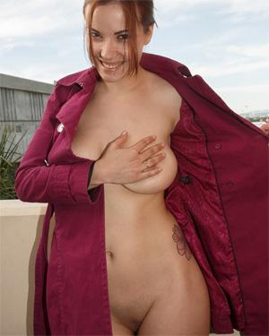 Elizabeth Marxs Overcoat Flasher