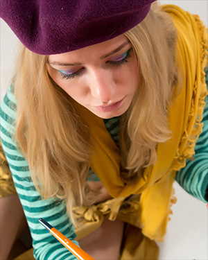 Ella Cute Blonde Is A Naked Painter