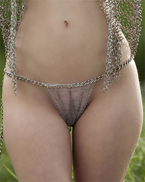 Elsy Chained Beauty on Bare Maidens