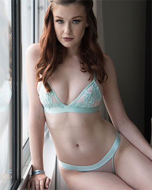 Emily Bloom Blue Lingerie Nudes