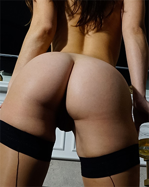 Eva Lovia By The Bar
