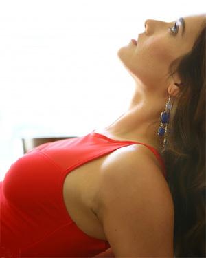 Eva Lovia Red Onesie