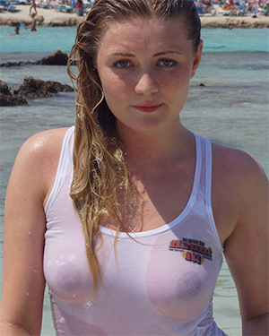 Georgina Wet Shirt Tits Flaunt It